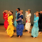 Mosaic Arabic Dance Network Performance Platform Group Dancers in colourful dresses